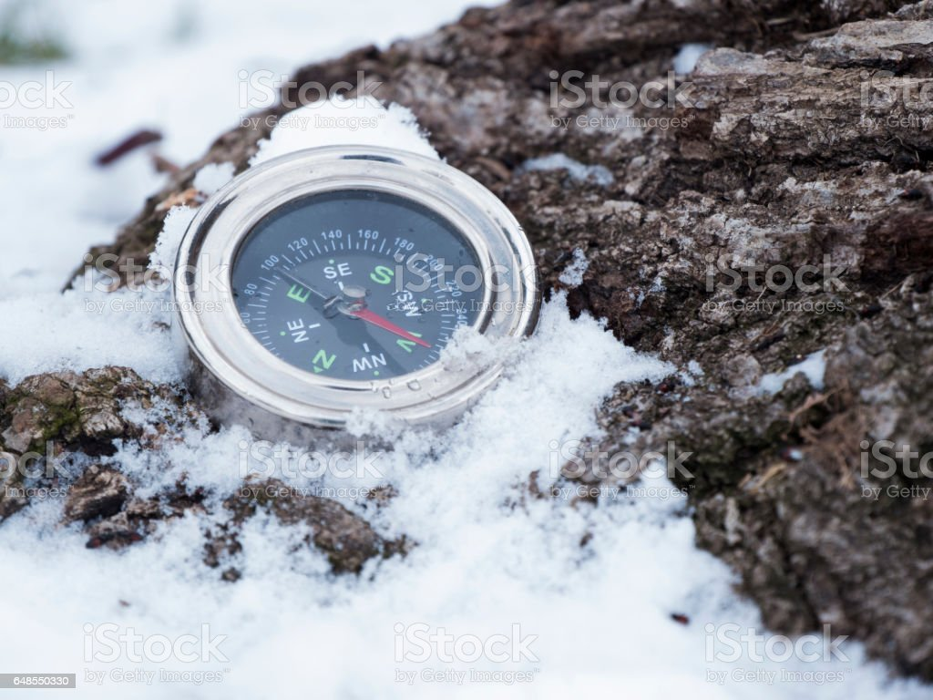 Compass instrument stock photo