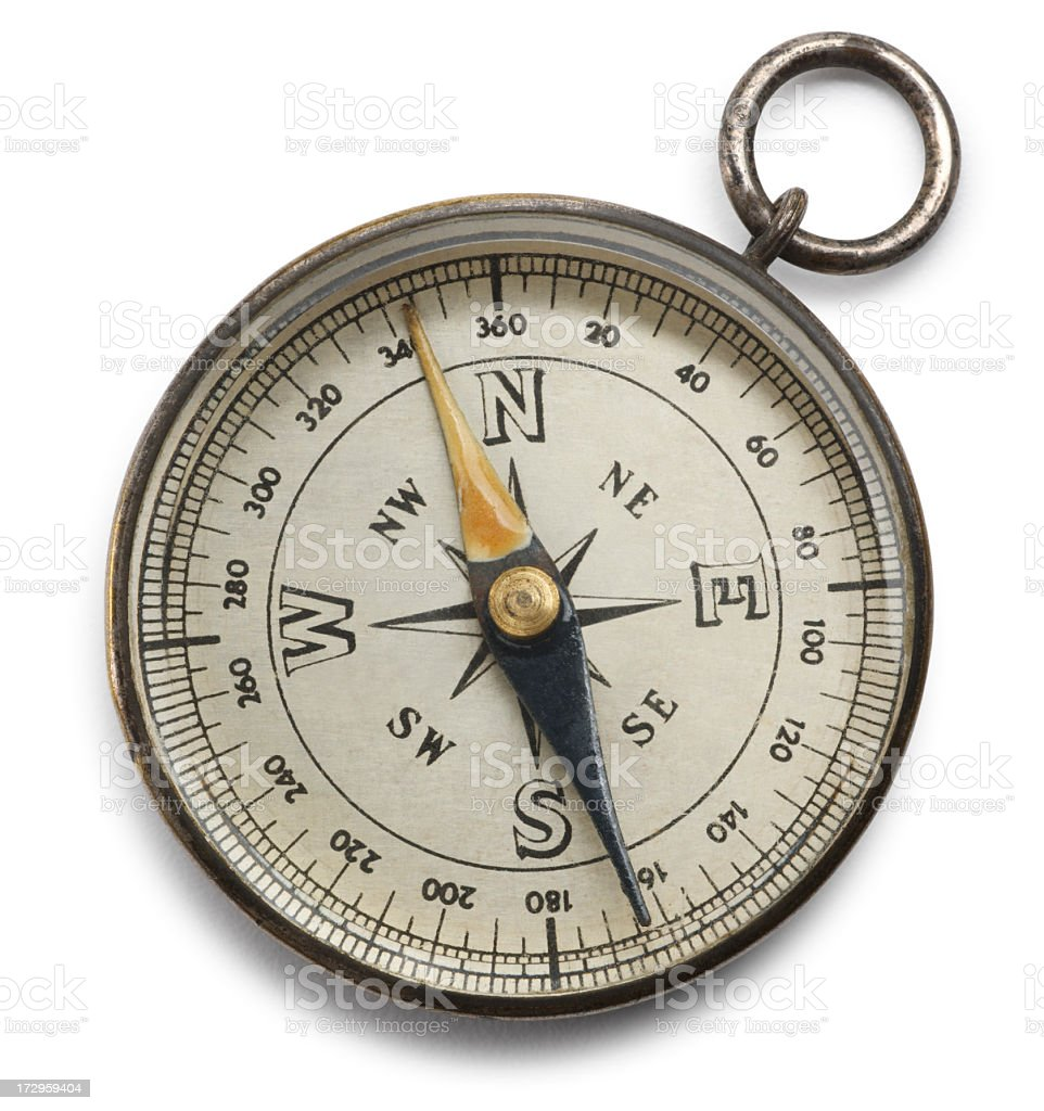 Compass isolated on a white background stock photo