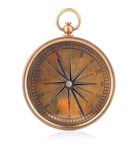 Compass isolated on white background. stock photo