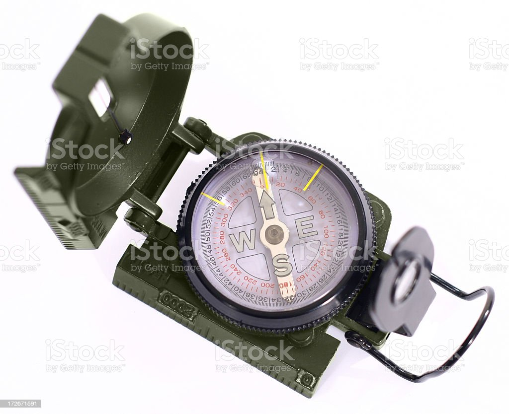 Compass isolated royalty-free stock photo