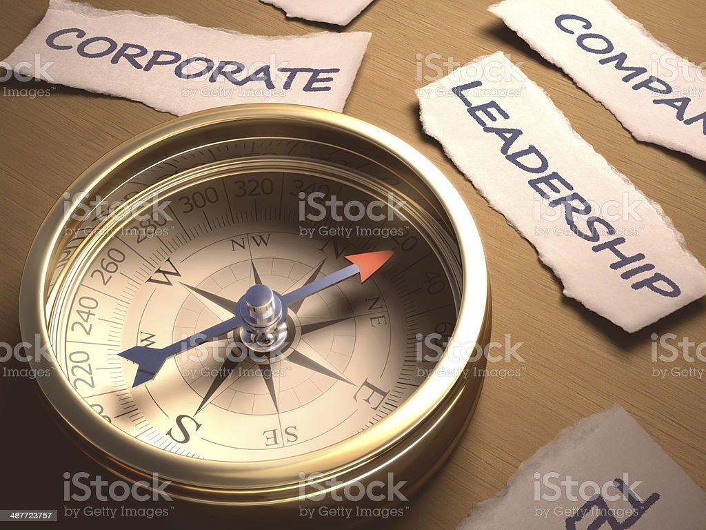 Compass Leadership royalty-free stock photo