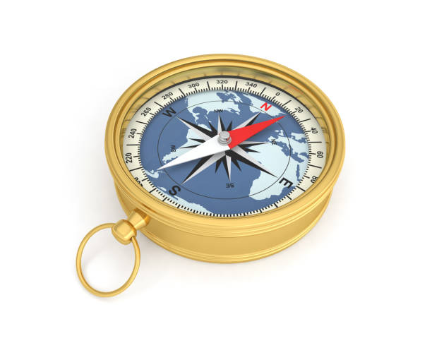 compass north south east  west direction stock photo