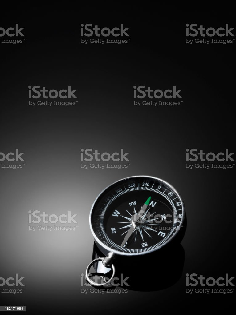 Compass on a Dark Background stock photo