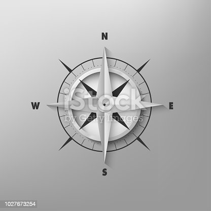 187602778 istock photo 3D compass on a gray background 1027673254