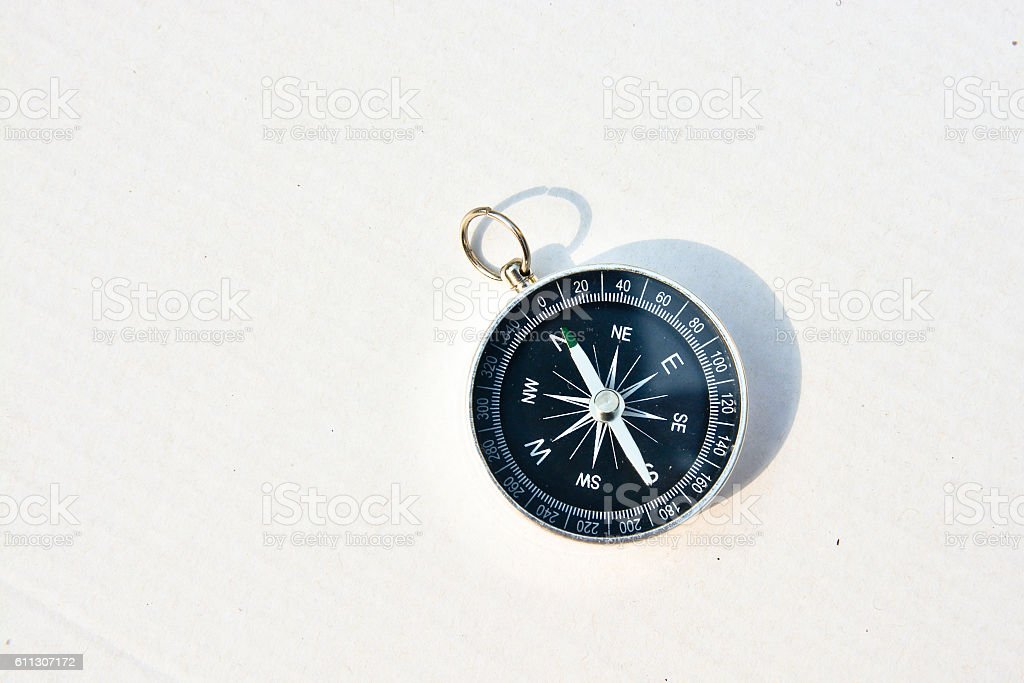 Compass on a white background. stock photo