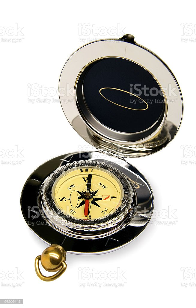 Compass on a white background royalty-free stock photo