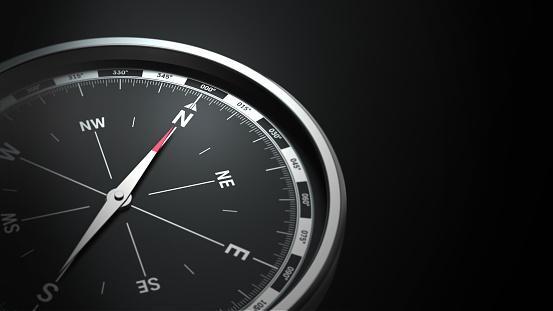 istock compass on black background 826351260