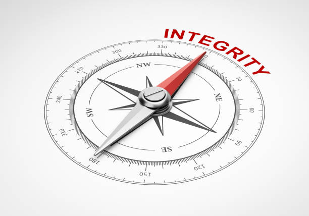 compass on white background, integrity concept - transparent stock pictures, royalty-free photos & images