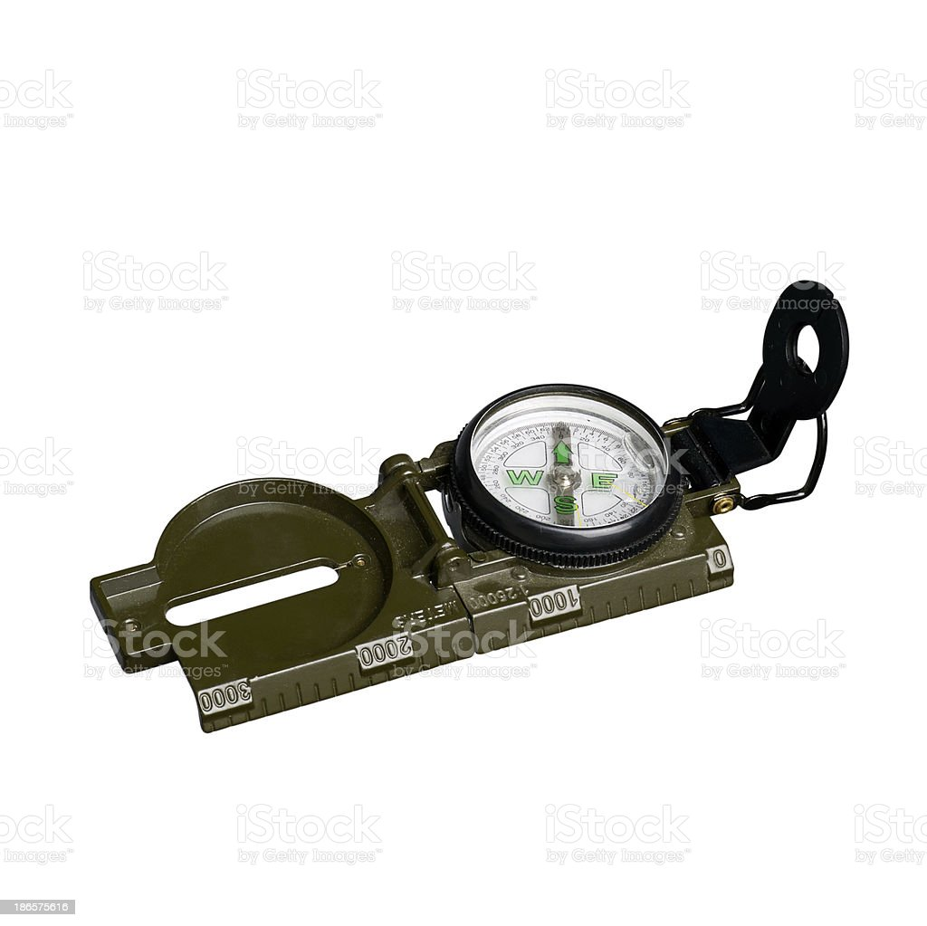 compass on white background royalty-free stock photo