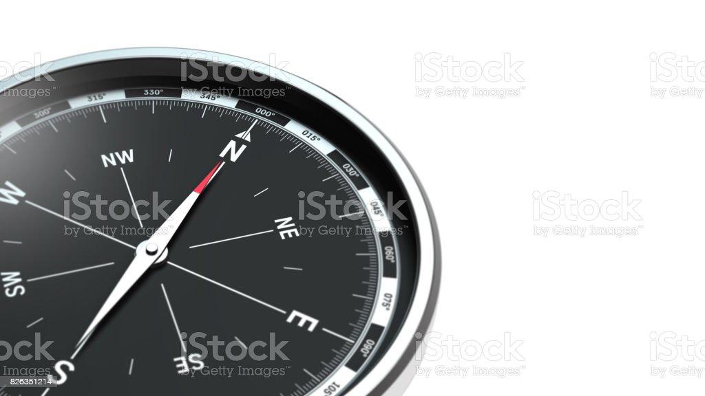Kompass auf weißem Hintergrund – Foto