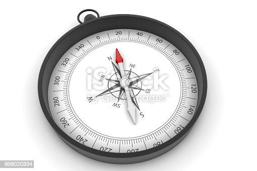 870218154 istock photo Compass on White Background 956020334