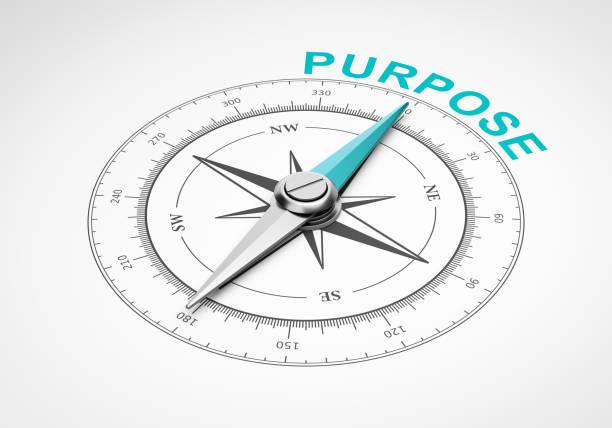 Kompass auf weißem Hintergrund, Zweck-Konzept – Foto