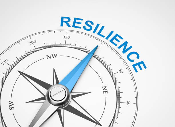 compass on white background, resilience concept - resilience concept stock photos and pictures
