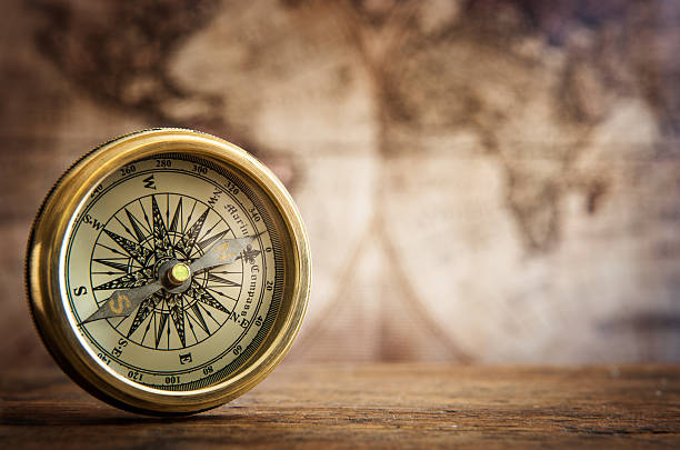 compass - vintage nautical stock photos and pictures