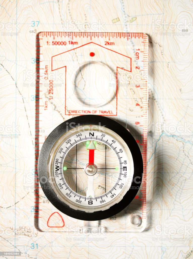 Compass Pointing North royalty-free stock photo