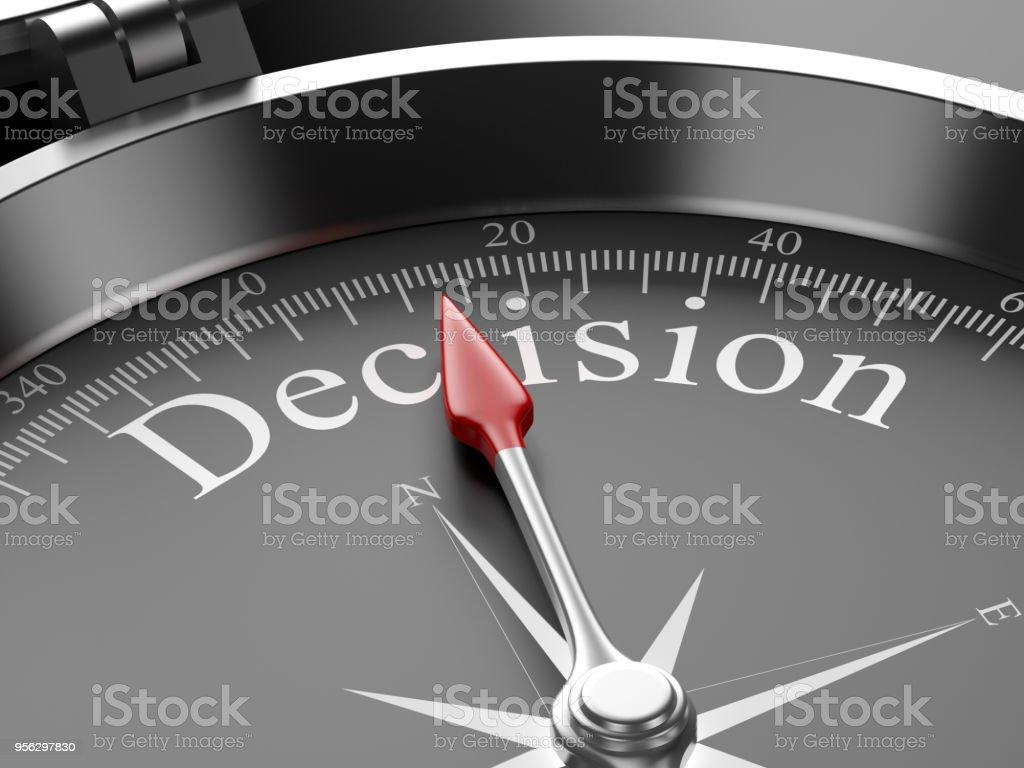 Kompass auf Entscheidung – Foto