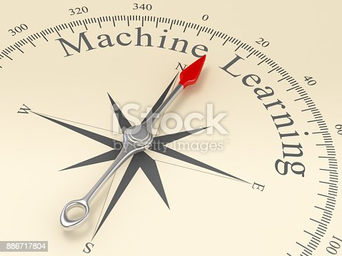 539953610istockphoto Compass Pointing to Machine Learning 886717804
