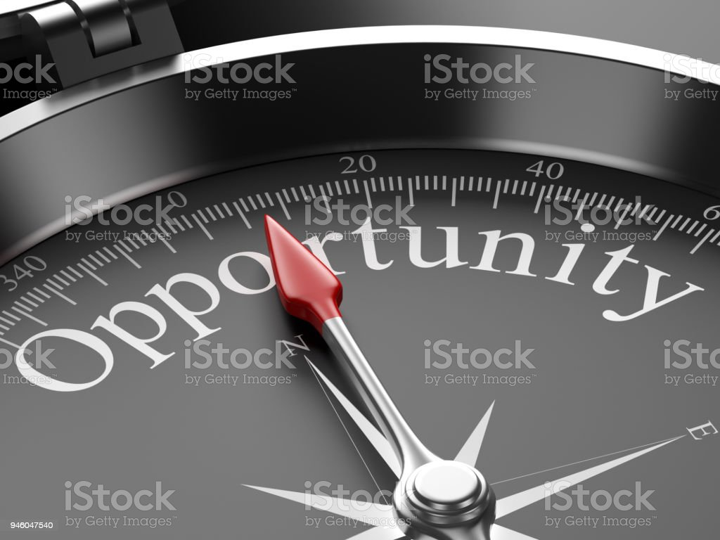 Compass Pointing to Opportunity stock photo