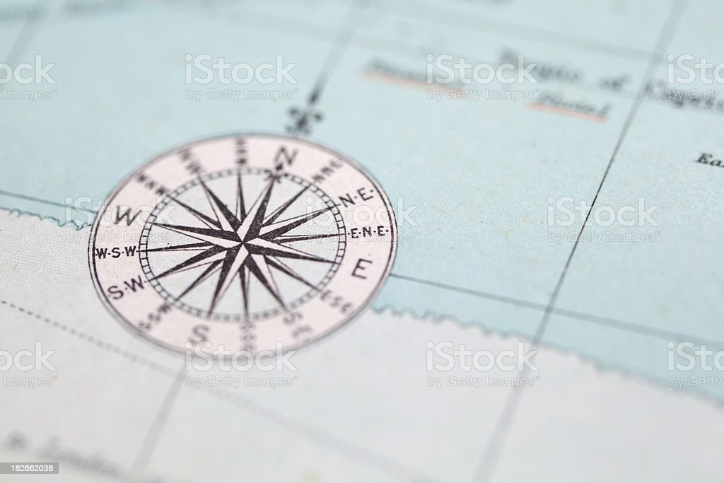 Compass Points stock photo