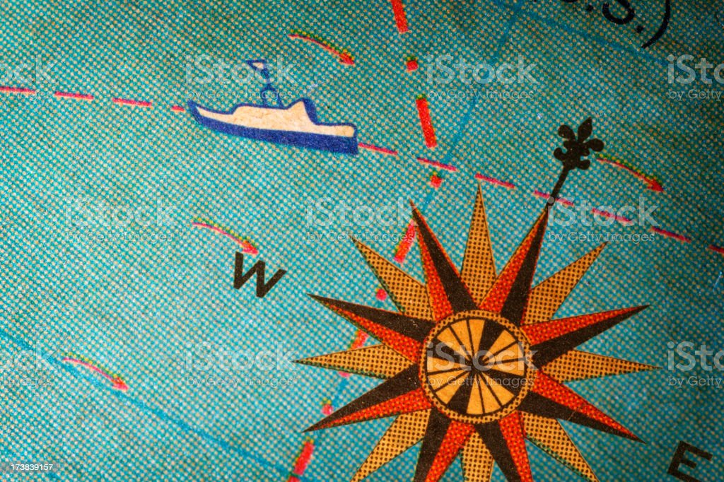 Compass Rose - Royalty-free Antique Stock Photo