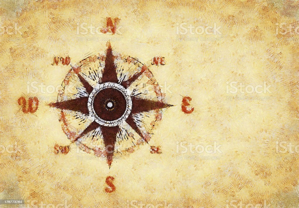 Compass rose royalty-free stock photo