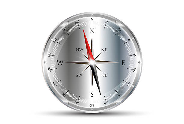 Compass Silver stock photo