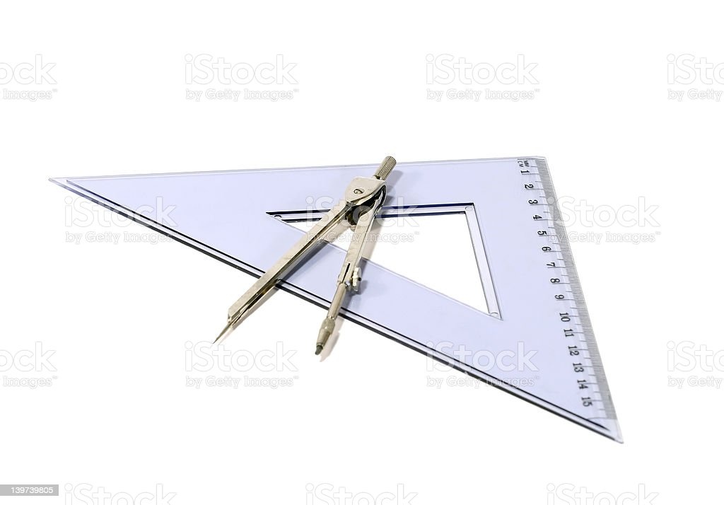 Compass & Triangle royalty-free stock photo