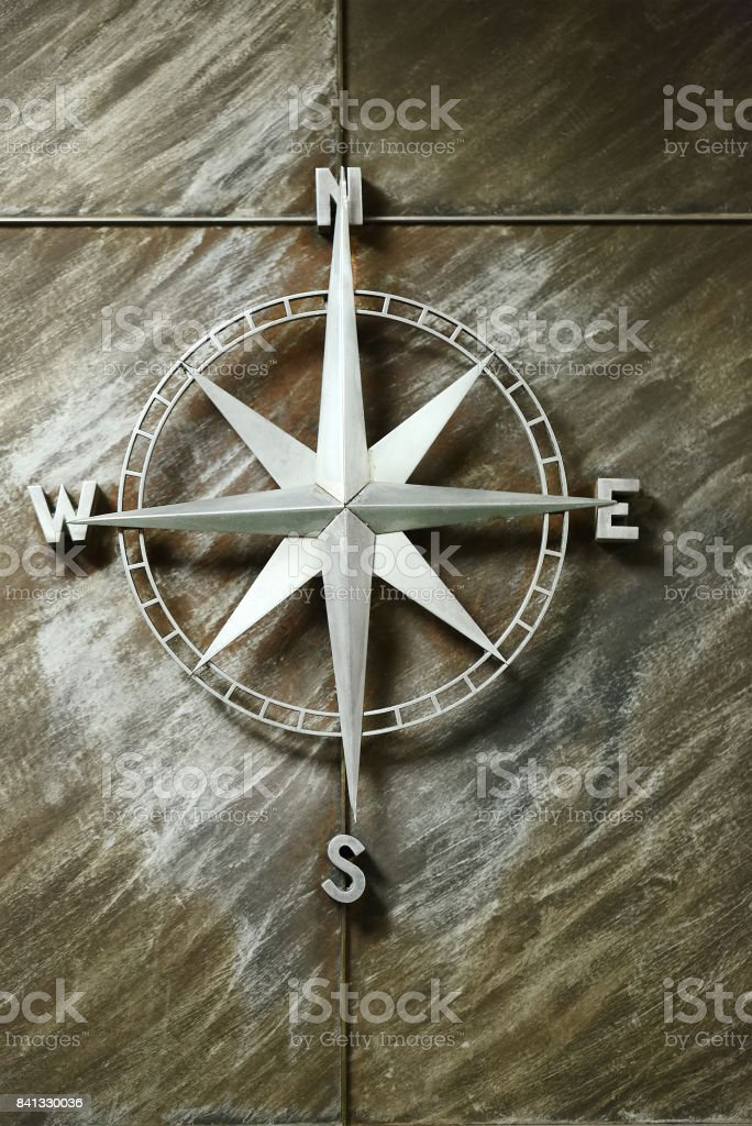 Compass wind rose stock photo