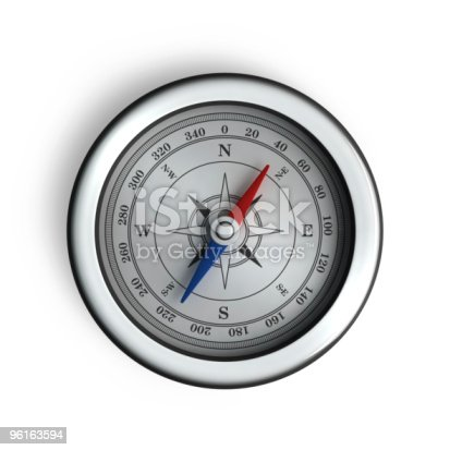 537607438istockphoto A compass with blue and red needles 96163594
