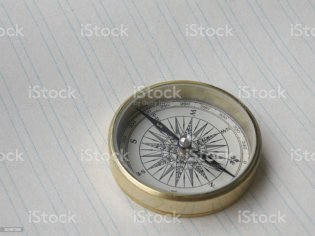 Compass with Blue Lines royalty-free stock photo