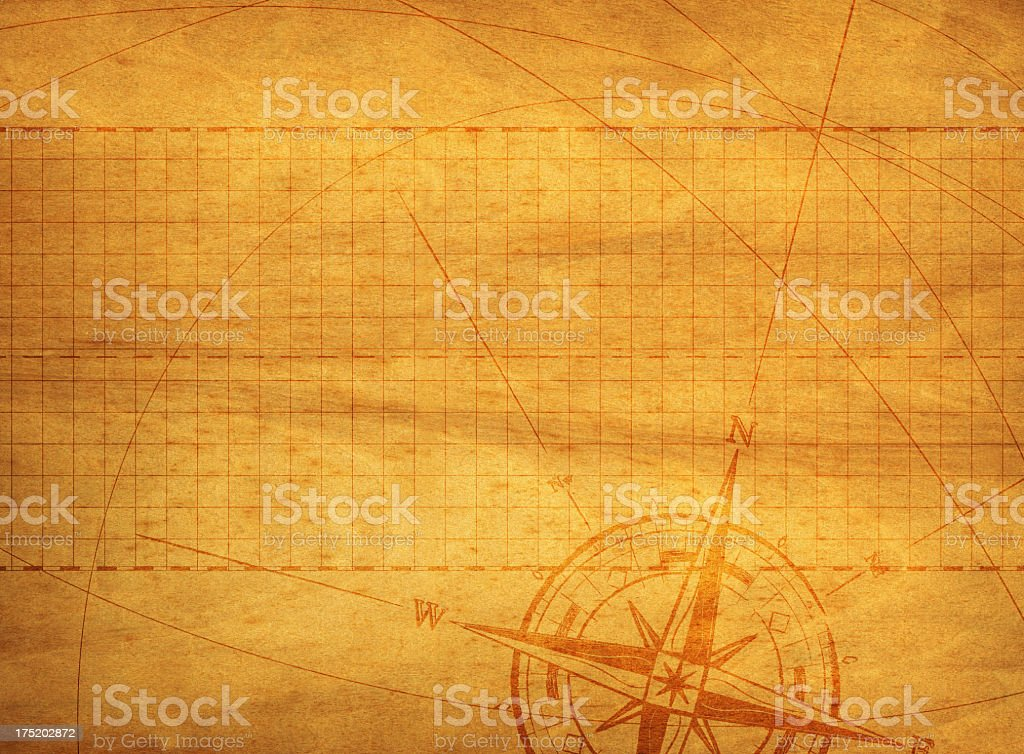 Compass Wood Background royalty-free stock photo