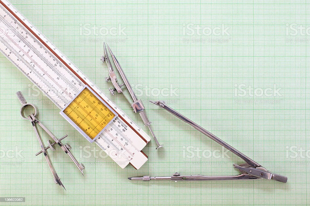 Compasses royalty-free stock photo