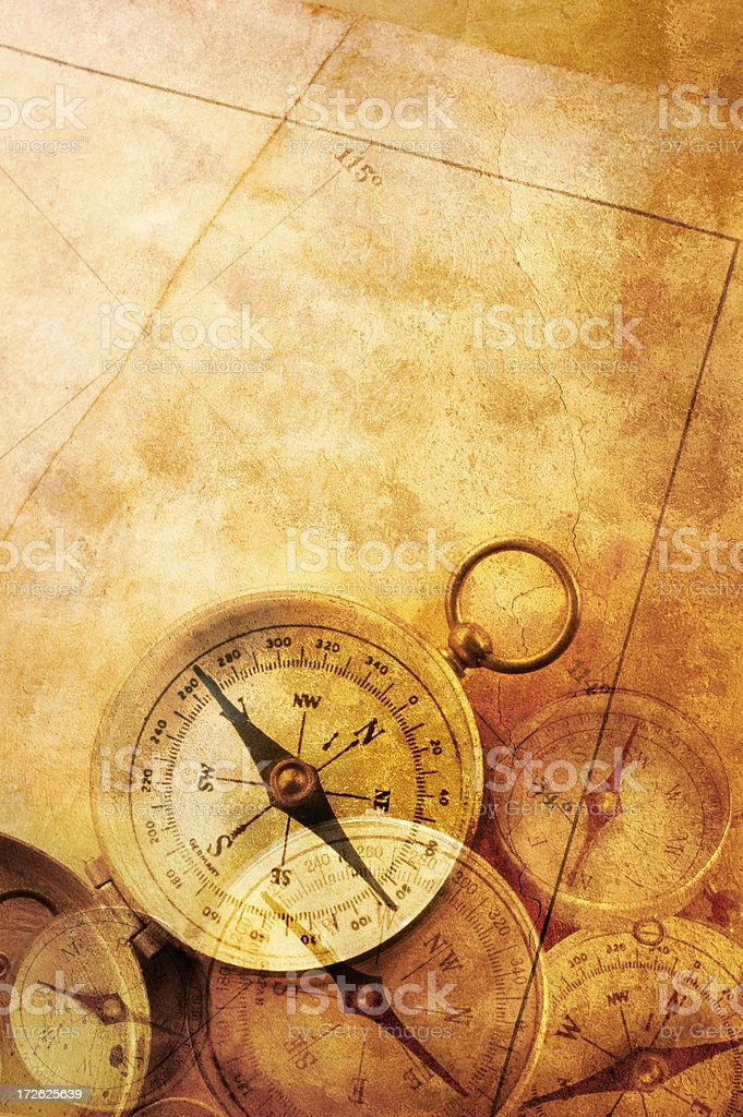 Compasses royalty-free stock photo