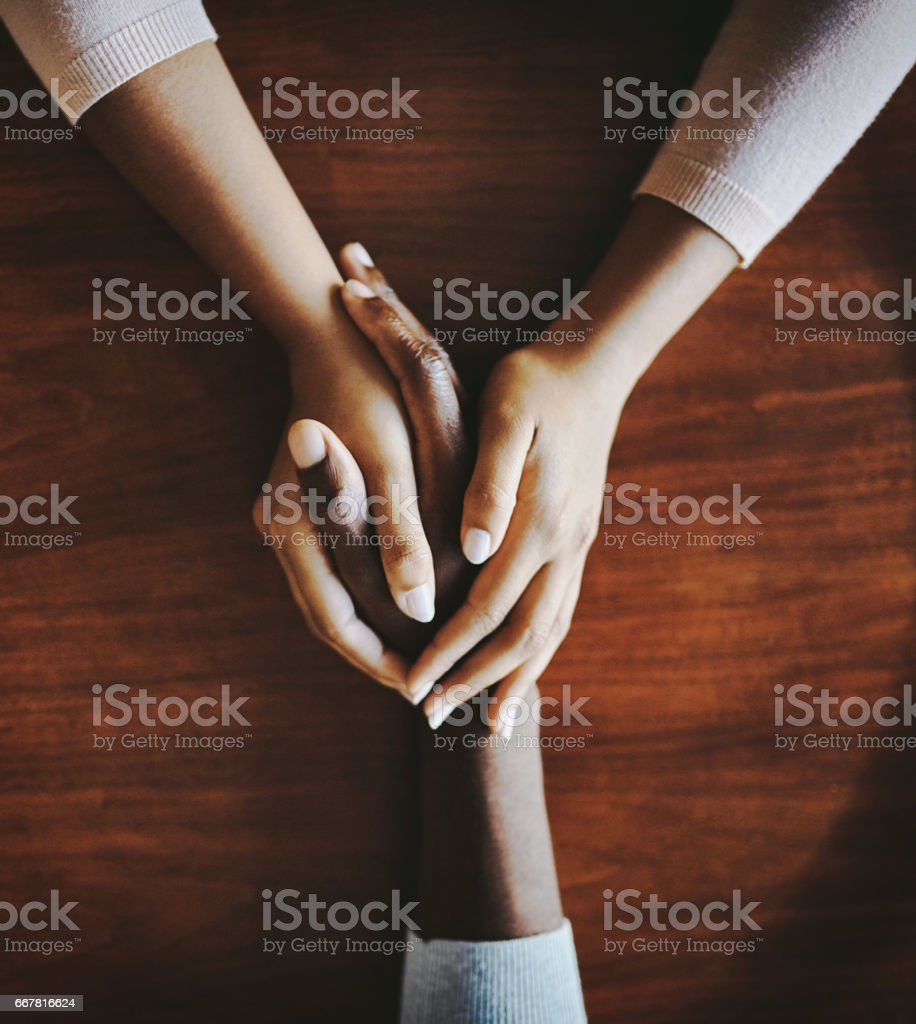 Compassion goes a long way stock photo