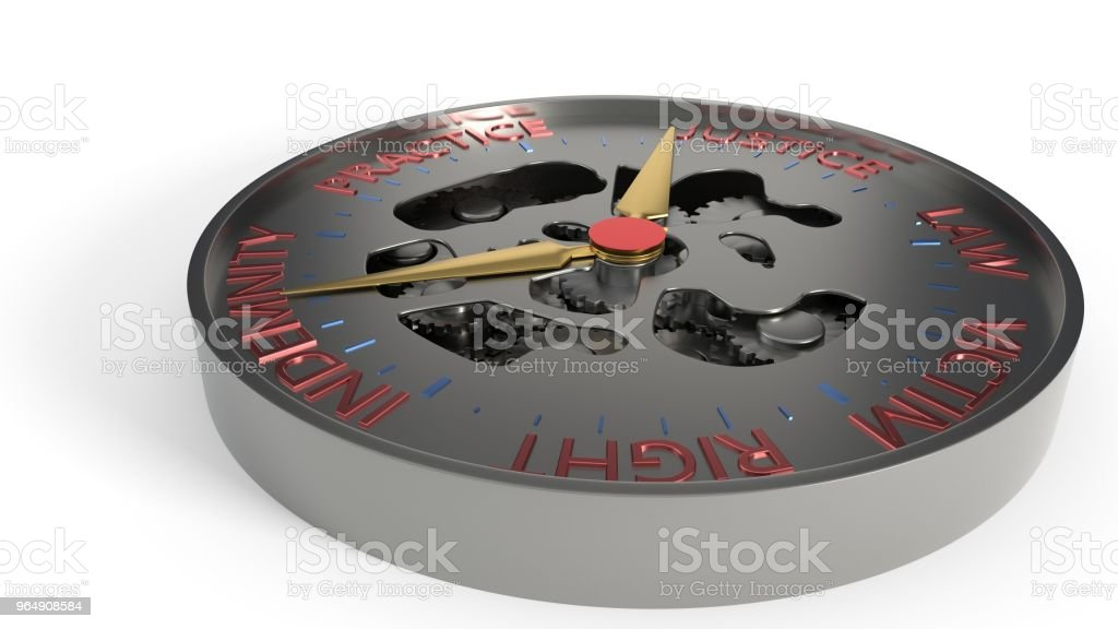 Compensation and litigation background compass concept, 3d rendering royalty-free stock photo