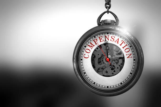 Compensation on Vintage Pocket Clock. 3D Illustration – Foto