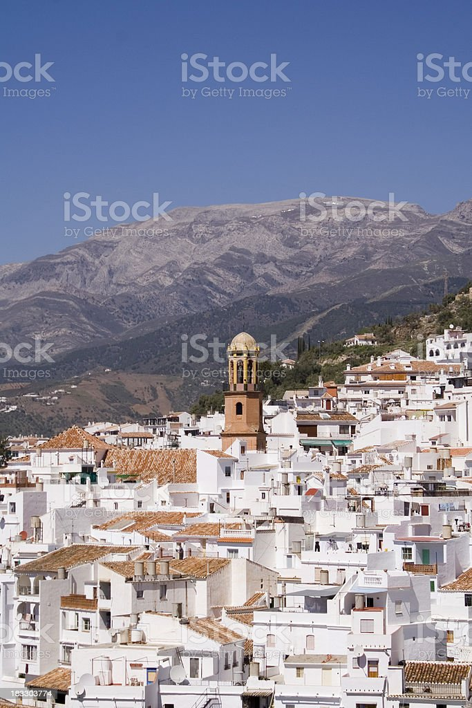 Competa Spanish white-washed village #1 royalty-free stock photo