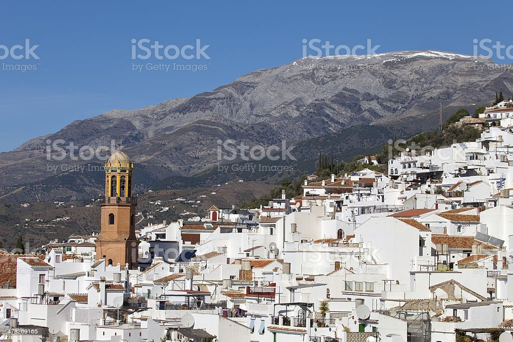 Competa white village in Andalusia, Spain royalty-free stock photo
