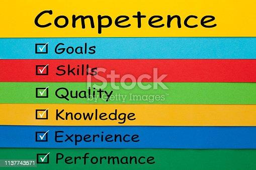 865186916 istock photo Competence Keywords Concept 1137743571
