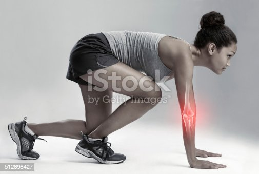 512698489 istock photo Competing through the pain 512698427