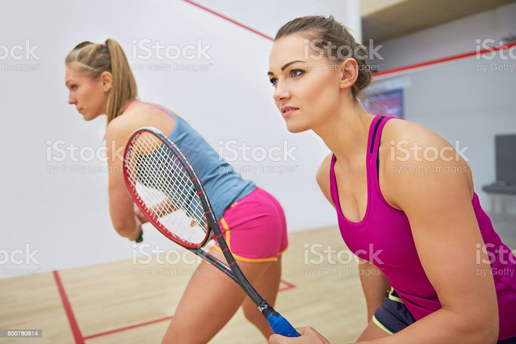 Competition between two best friends stock photo