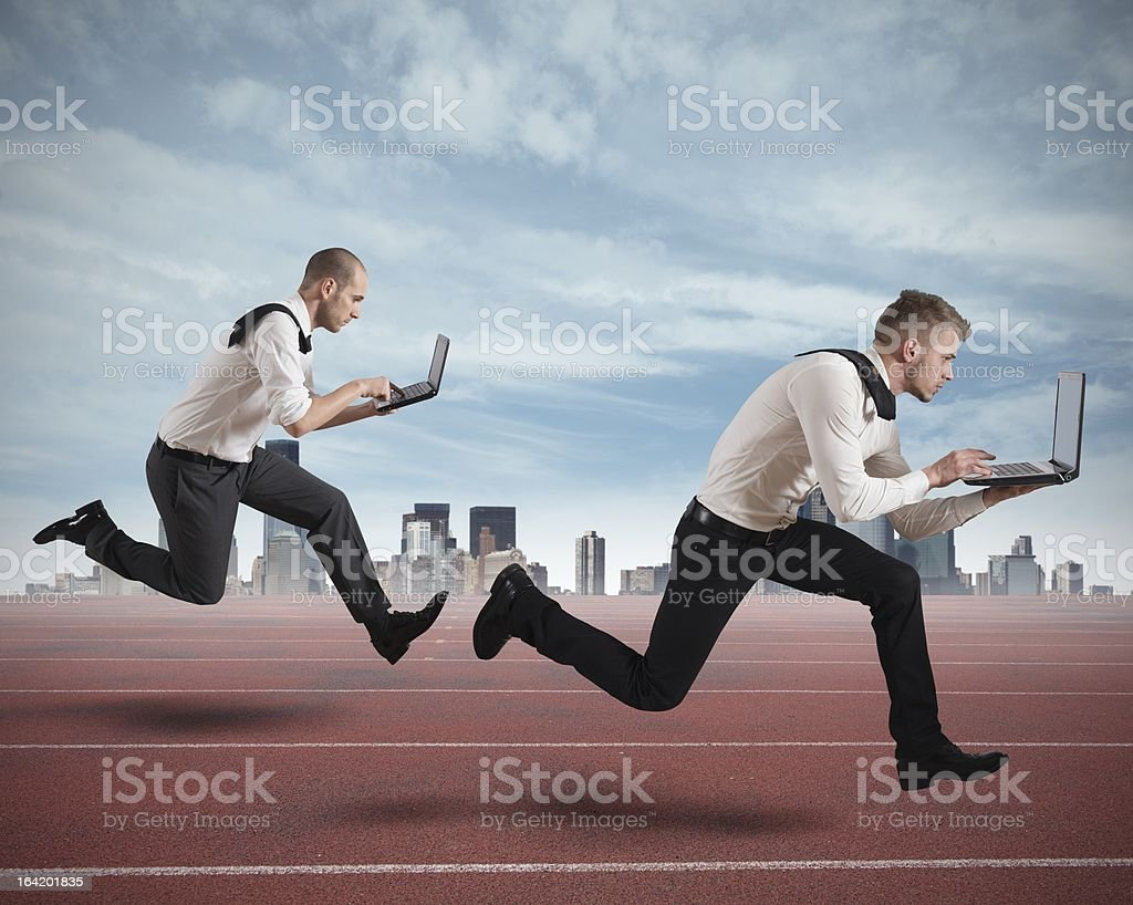 Competition in business royalty-free stock photo