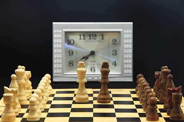 competition The chesses with white and black symbolize the competition between different people,the stronger will win at last. antagonize stock pictures, royalty-free photos & images
