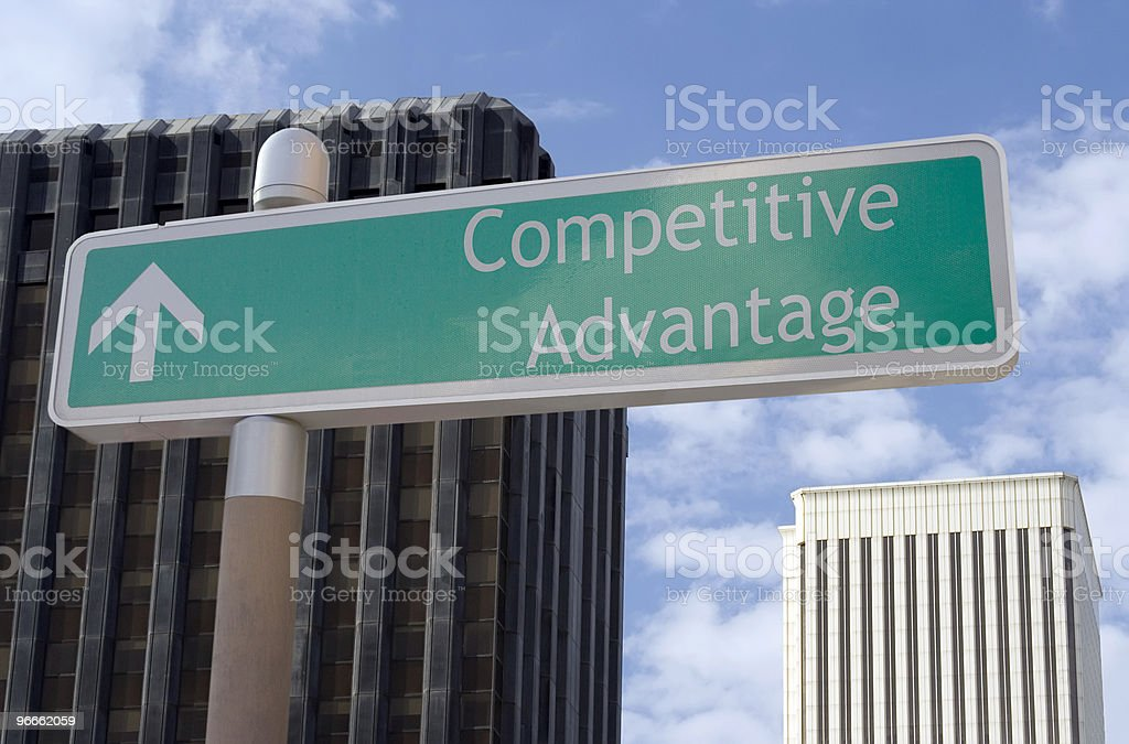Competitive Advantage Ahead royalty-free stock photo