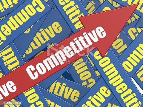 1014851396 istock photo Competitive arrow 1054532804