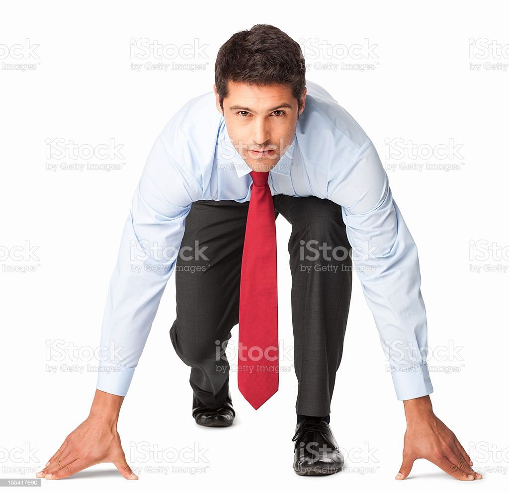 Competitive Business Executive - Isolated royalty-free stock photo