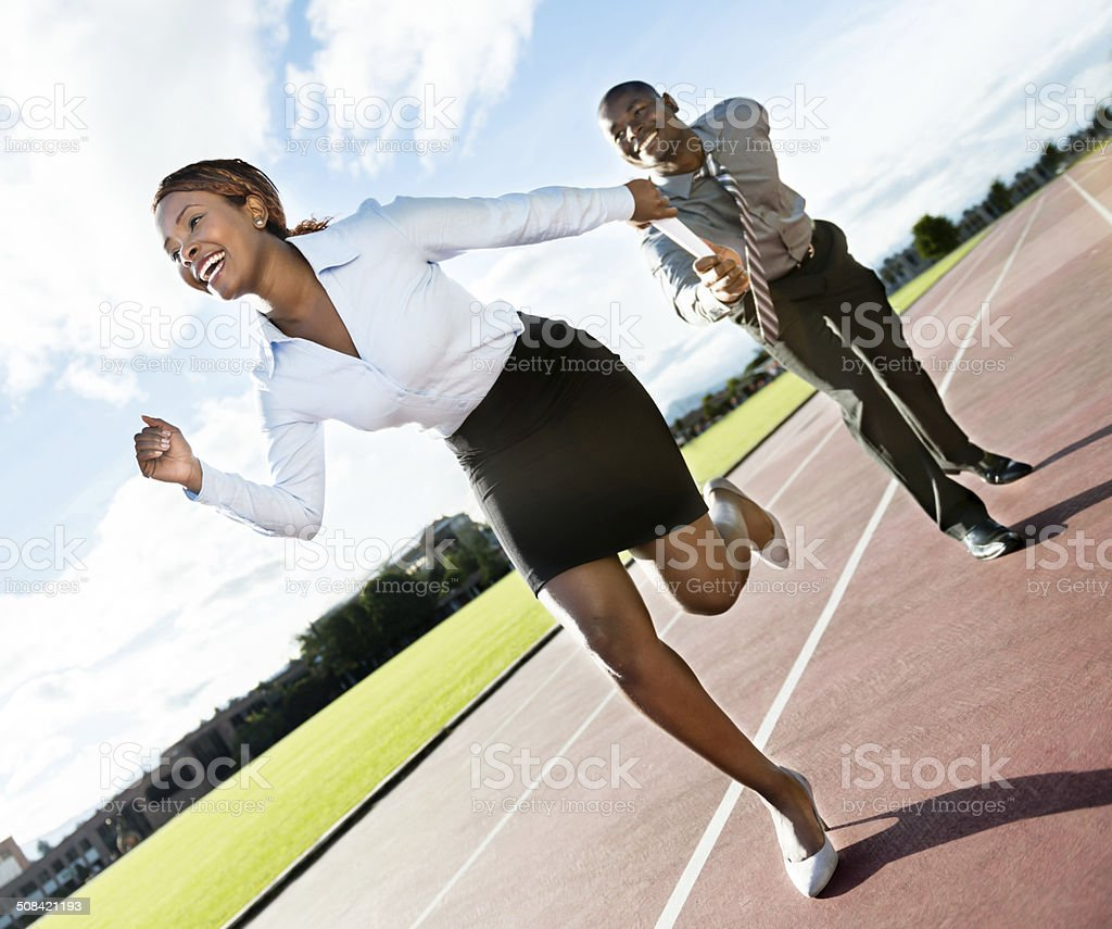 Competitive business team stock photo