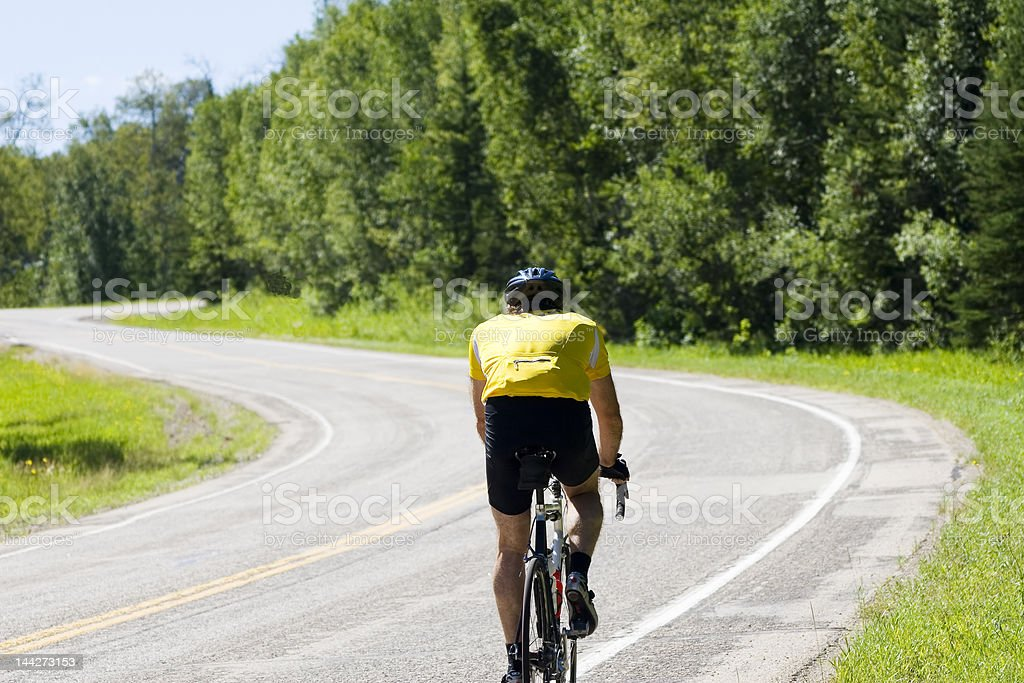 Competitive Cyclist royalty-free stock photo