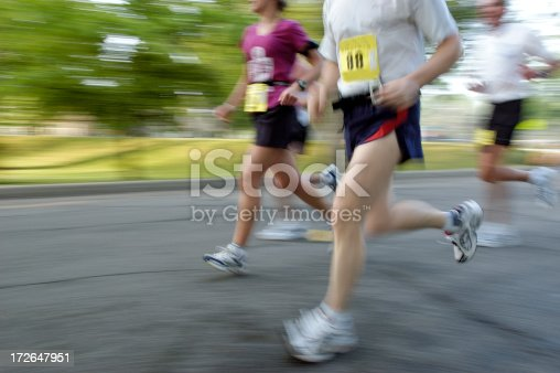 istock Competitive runners 172647951