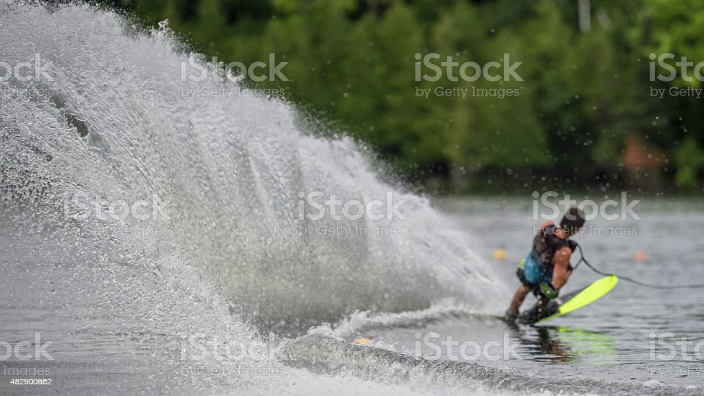 Competitive Slalom Skiing stock photo